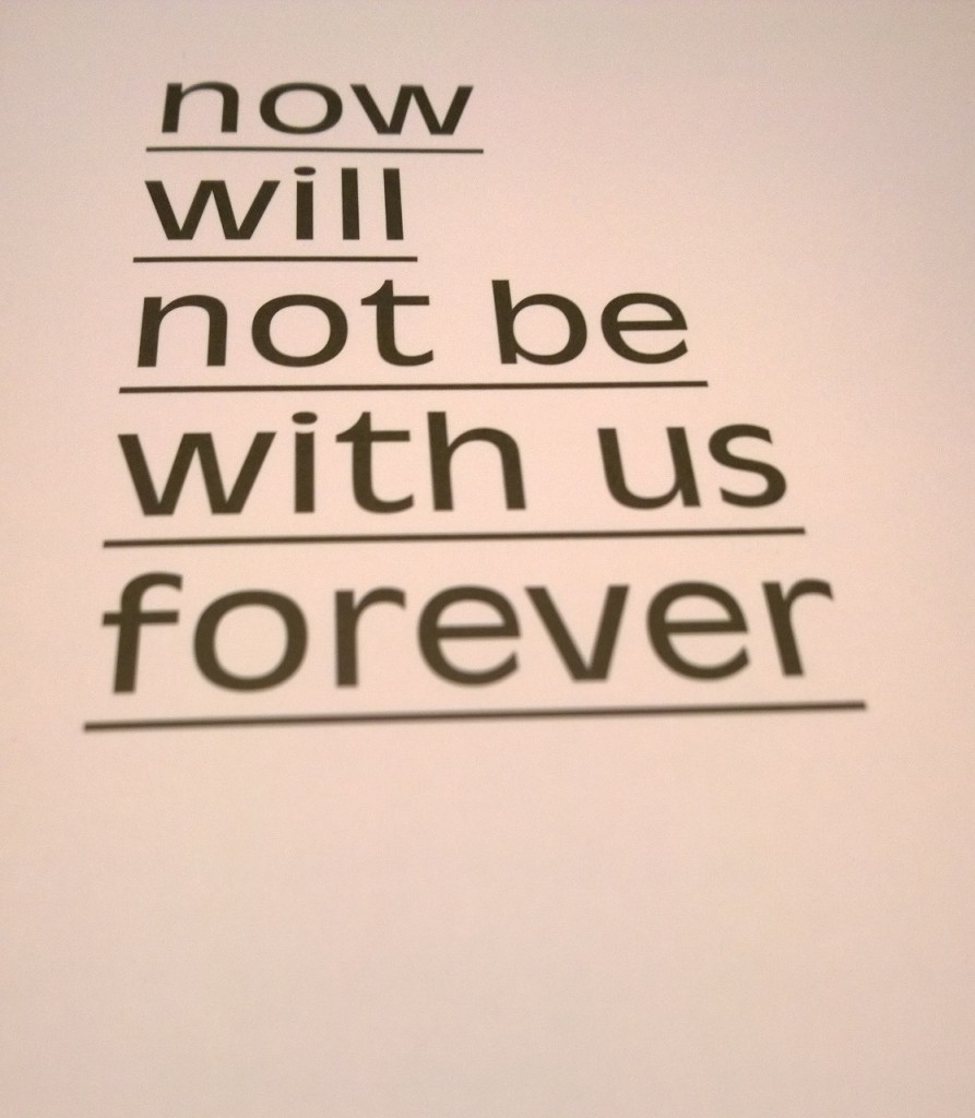now will not be with us forever - Maurice van Es
