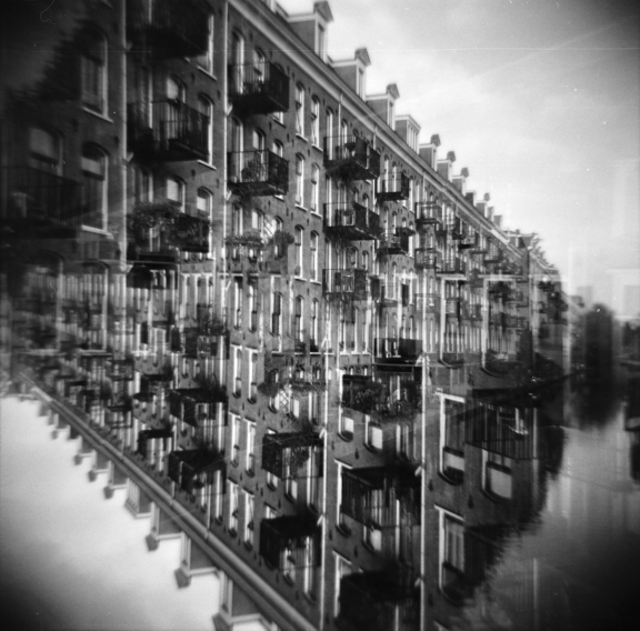 mirrored - houses in amsterdam